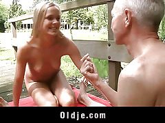 Monica Thu is blonde, youthful and curious and he is an oldman with practice and over all a guru. The perfect peer for an oldyoung boink skills exchange. Long labia slurping and strenuous cockblowing occur