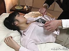 Chika Hirako is a uber-cute Chinese nubile in an office suit. She is getting her small titties played with and her pink beaver tongued while taking a break from working. She slams his jizz-shotgun into her torrid hatch before she enlarges the hard-core ac