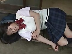 Chinese student Eri Sasaki in a sweater and skirt