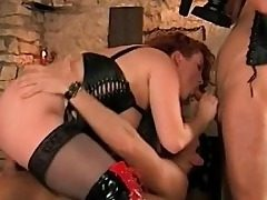 Huge-boobed Stepmom Thirsty For Stepson and His Frie