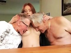 Babysitter 3some caught masterbating Minnie Manga eats b