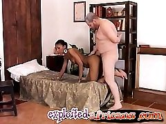 Mature priest fucks a young black honey