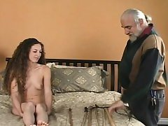 Exposed damsel drubbing video with thraldom