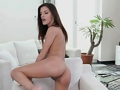 Nubile playgirl caresses cookie in order to get agonorgasmos