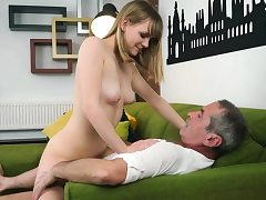 Grandpa licks and fucks a ash-blonde Hungarian teenage hottie
