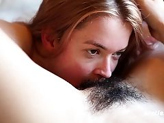 First-timer Lesbian Cunt Licking and Faux-cock Romping