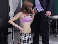Spunky college girl is seduced and railed by elder tut33ILb
