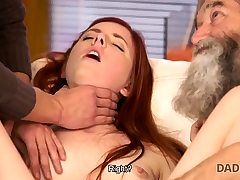 DADDY4K. Dirty dude frigs GF for hotwife on him with...
