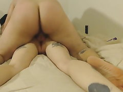 Home Hook-up Tat Couples! Fucked the blonde in Anal!