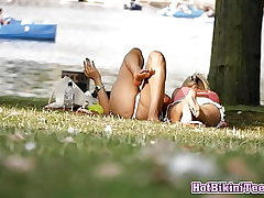 First-timer Hot Bikini teenies Spy Spycam Spycam In The Park