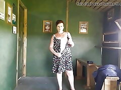 HORNY MATURE Cougar STRIPTEASE IN A RSPB BIRD HIDE
