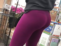 Cool Teenager in Tights Candid