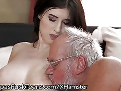 GrandpasFuckTeens Huge-chested Inked Teenager Loves Old Dick