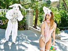 Mini Easter Bunny Honey Gets Wedged