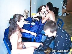 Teenagers enjoy lovemaking