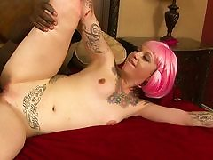 Bodacious Stepdaughter Rides Ebony Fellow Meat