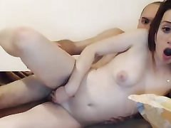 Redhead small titted fledgling romped on web cam