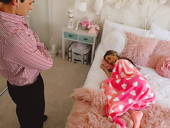 Lounging Babysitter Gets Creampied